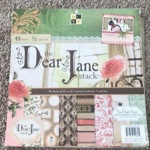 """Dear Jane"" 12x12 Printed Cardstock by DCWV"